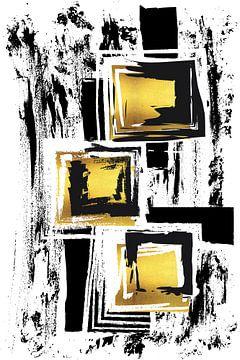 Abstrakte Malerei Nr. 36 | gold von Melanie Viola