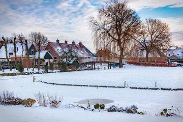 Sneeuw in De Rijp van Jan van der Knaap