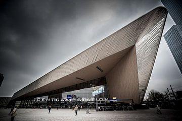 Prachtig Rotterdam - Centraal Station (kleur) van Prachtig Rotterdam