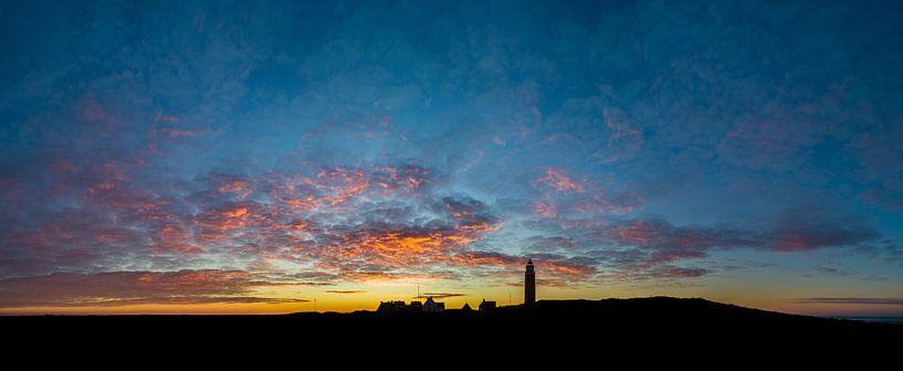 Vuurtoren Eierland Texel - zonsondergang van Texel360Fotografie Richard Heerschap
