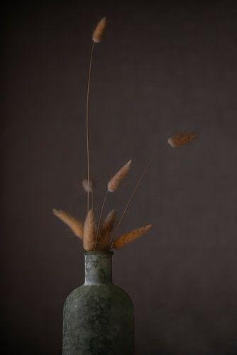 Stilleven met vaas en pluimen