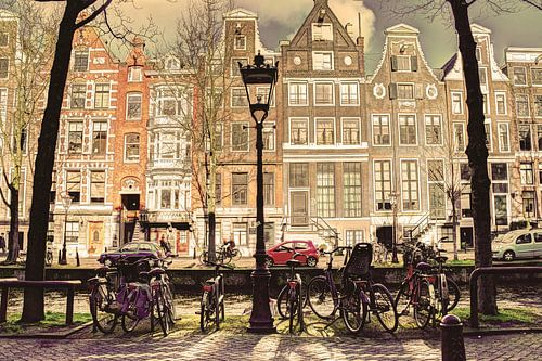 Binnenstad van Amsterdam in de Winter Oud