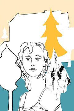 WhiteCube Woman 2 von Iris-Alexandra Hass