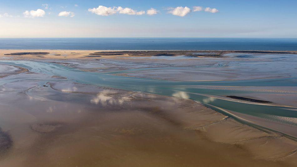 La mer des Wadden à sec à Vlieland