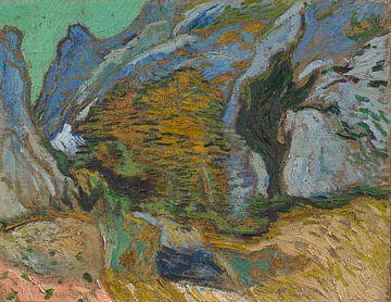 Vincent van Gogh, Schlucht mit einem Bach von 1000 Schilderijen