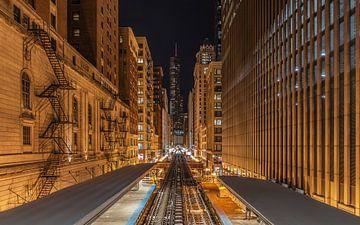 Chicago Trains von Kees Jan Lok