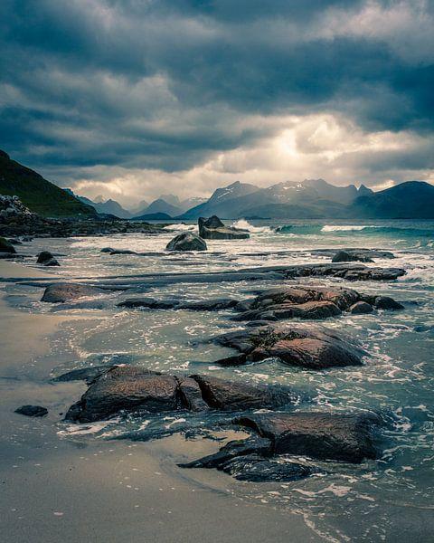 Strand op de Lofoten van Hamperium Photography