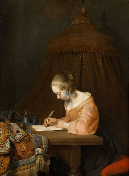 De briefschrijfster, Gerard ter Borch van Meesterlijcke Meesters