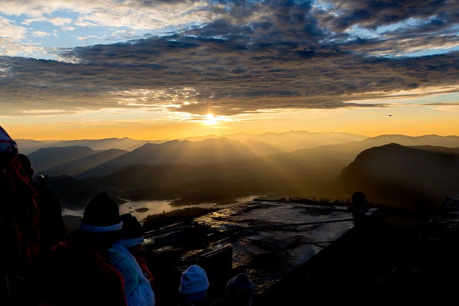 Zonsopkomst vanaf de Adam's Peak