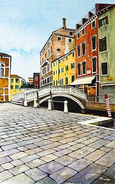 Venedig | Campo dei Frari | Aquarellmalerei von