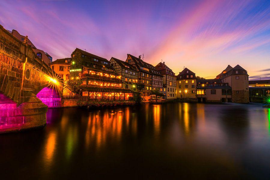 Zonsondergang in Straatsburg van Maikel Brands