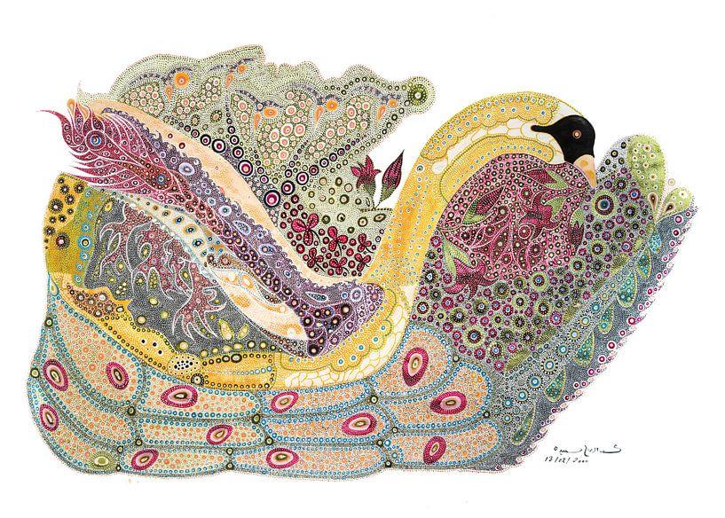 Duck In The Fish Pond van Mohamed Hamida