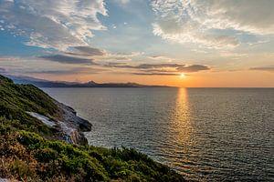 Untergehende Sonne auf Korsika