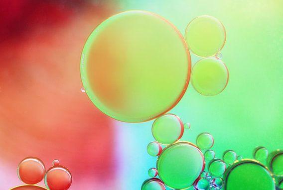 Rainbow bubbles.