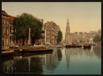 Munttoren, Amsterdam van Vintage Afbeeldingen