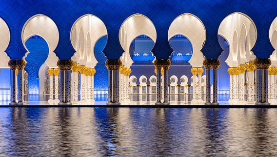 De bogen van de Sheikh Zayed-moskee in Abu Dhabi van Rene Siebring