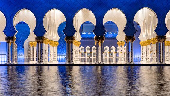 De bogen van de Sheikh Zayed-moskee in Abu Dhabi