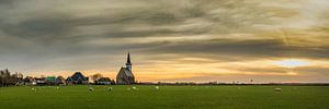 Den Hoorn Texel met een prachtige zonsondergang van