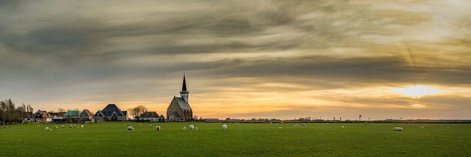 Den Hoorn Texel met een prachtige zonsondergang