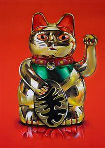 Maneki Neko (lucky cat) schilderij von