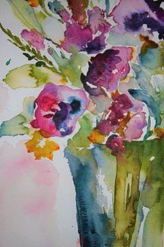 Blumen in lila und grün 2 von ArtBoxi
