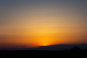 Zonsondergang in Bow Island van Eline Huizenga