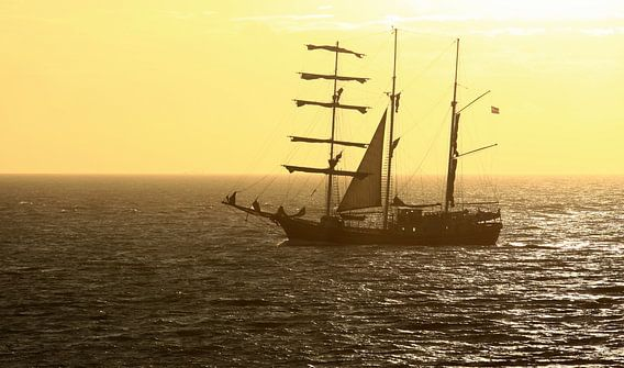 Zeilschip voor de Zeeuwse kust van MSP Canvas
