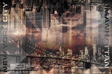 Modern Art MANHATTAN SKYLINES von Melanie Viola