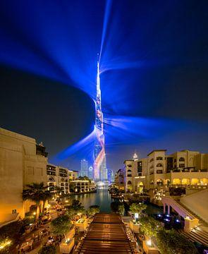Exposition au laser Burj Khalifa sur Rene Siebring