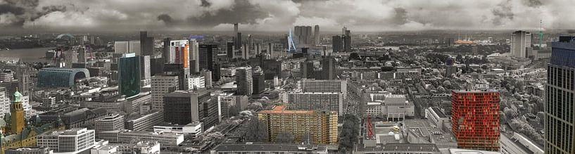Panorama von Rotterdam von Fred Leeflang