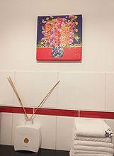 Kundenfoto: Fröhliche Blumenmalerei von Nicole Habets, auf leinwand