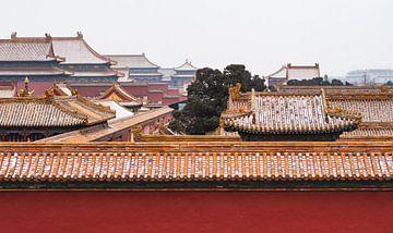 Besneeuwde daken van de Verboden Stad in Beijing van Chihong