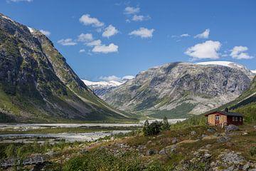 Austdalsbreen, Noorwegen van Peter van Rooij