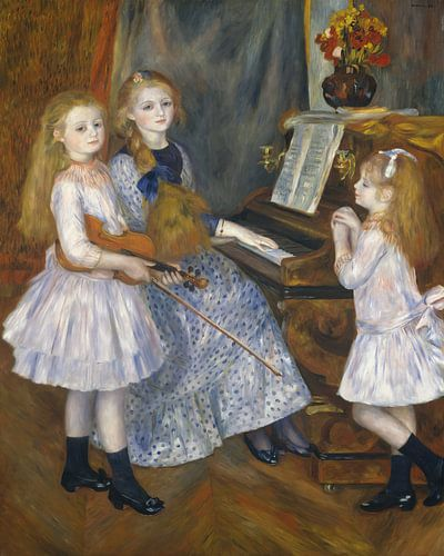De dochters van Catulle Mendès, Huguette, Claudine en Helyonne, Auguste Renoir van Meesterlijcke Meesters