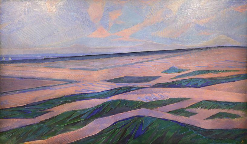 Landschaft mit Dünen, Piet Mondrian von Meesterlijcke Meesters