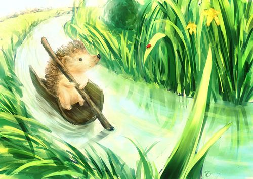 Hedgehog on a journey von Petra van Berkum