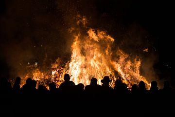 kerstbomenverbranding van sem van Straalen