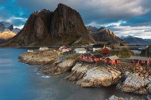 Hamnoy Lofoten Noorwegen van