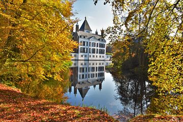 Schloss Renswoude im Herbst von Egbert van Ede