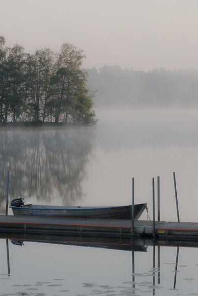 Vroege morgen aan het water