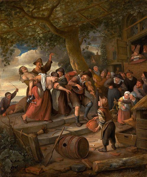 Die betrunkenen Frauen, Jan Steen von Meesterlijcke Meesters