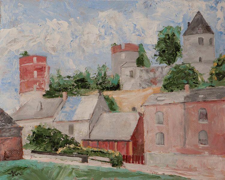 Chateau d'Hierges von Antonie van Gelder Beeldend kunstenaar