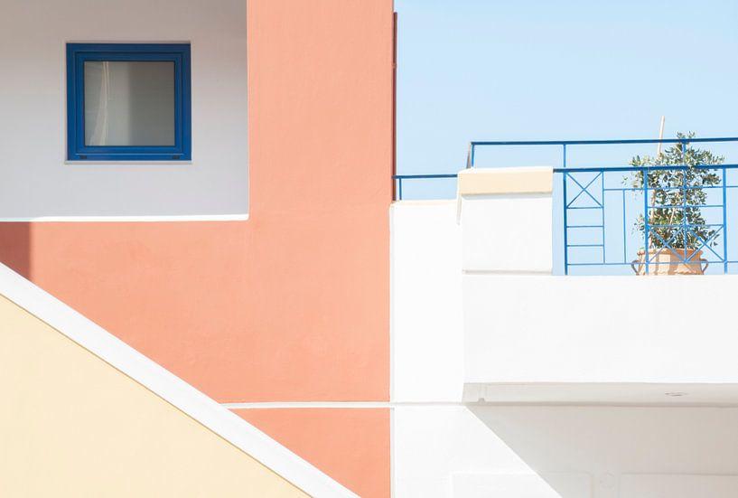 Some White, Pink and Blue van Frans Rijsdijk