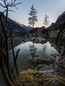 Während des Sonnenunterganges am Hintersee