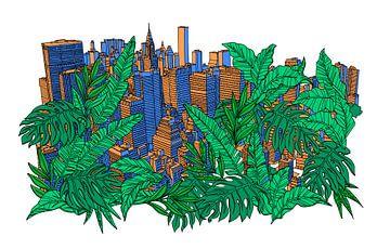 NY Stadt Dschungel von Maarten Schets