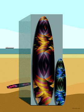 Surfbrett von Ton van Hummel (Alias HUVANTO)