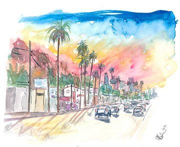 Sonnenuntergang Blvd Los Angeles Regenbogen-Sonnenuntergang von Markus Bleichner