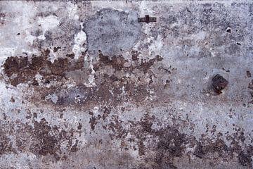 Verweerde betonnen wand in  grijs blauw en bruintinten van Affect Fotografie