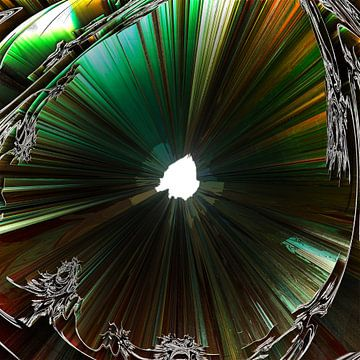 Trechter van gevouwen fractals van Frank Heinz