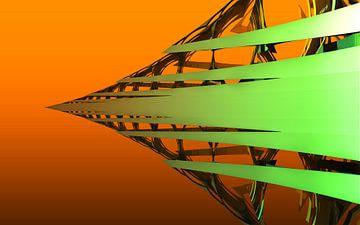 Groene pijl van Frank Heinz